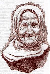 Загрузить увеличенное изображение. 387 x 574 px. Размер файла 63328 b.  Виктор Михайлович Пестунов. Бабушка (вышитая картина)