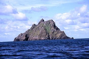 Монастырский остров Скеллиг-Михаил в Ирландии