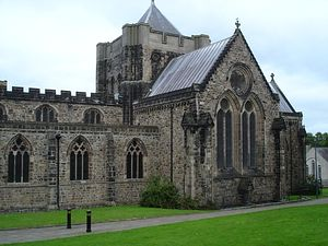 Bangor Cathedral in north-west Wales