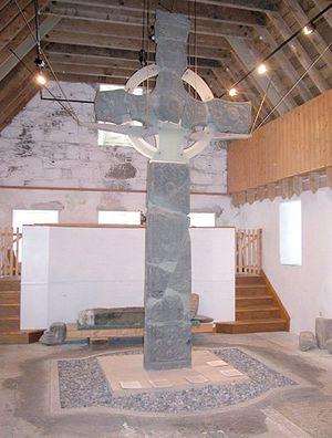 Кельтский крест в музее Айонского аббатства