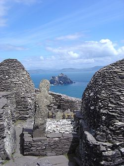 View of Small Skellig from Skellig Michael