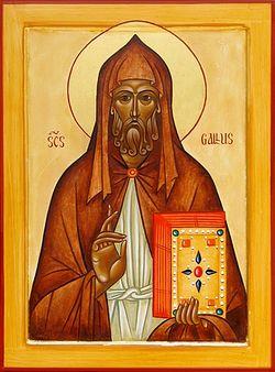 Загрузить увеличенное изображение. 365 x 493 px. Размер файла 100371 b.  Святой Галл, апостол Швейцарии