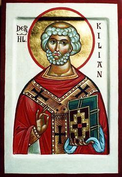 Загрузить увеличенное изображение. 300 x 436 px. Размер файла 38703 b.  Священномученик Килиан, апостол Франконии и восточной Тюрингии