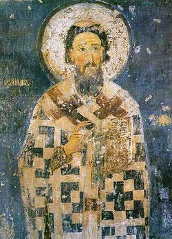 Святой Савва Сербский. Фреска монастыря Милешево