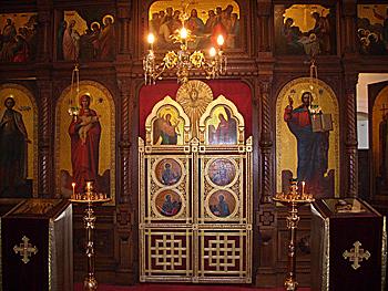 Ирем. Интерьер храма св.мученицы Александры
