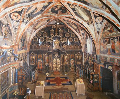 Рацкеве. Фрески в интерьере Успенского храма