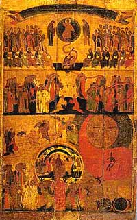 Страшный Суд. Музеи Кремля Москва, конец 14 в.