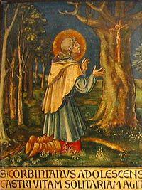 Юный св. Корбиниан избирает уединенную жизнь