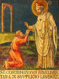 Св. Корбиниан отпускает грехи Адальберту