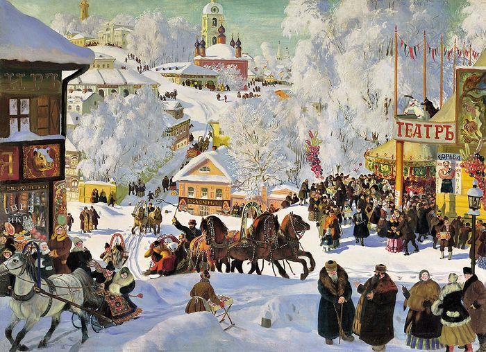 Б. Кустодиев. Масленица. 1916 г.