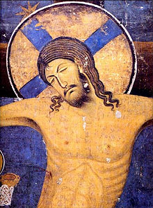 The Crucifixion, fragment (Studenica Monastery, Serbia).