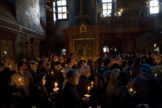 Lenten service in Sretensky Monastery. Photo by M. Rodionov, Pravoslavie.ru