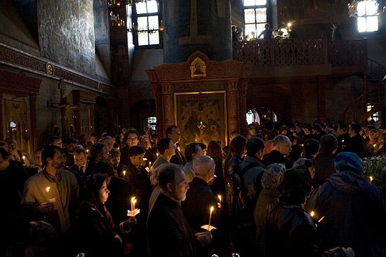 Великопостная служба в Сретенском монастыре. Фото: М.Родионов / Православие.Ru