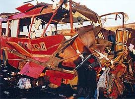 Автобус «Ниш-экспесс» после взрыва