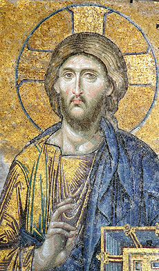 Christ the Pantocrator. Fresco in the Hagia Sophia, Constantinople