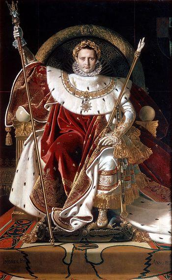 Загрузить увеличенное изображение. 864 x 1400 px. Размер файла 232732 b. Жан Огюст Доминик Энгр. Наполеон на своем императорском троне