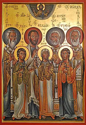 Икона испанских святых. Работа о. Андрея Давыдова