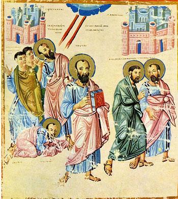 Деяния св. апостола Павла. Миниатюра