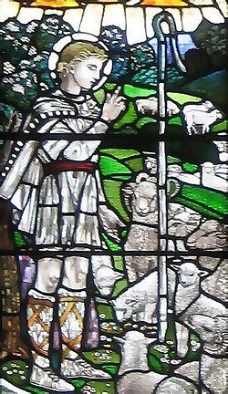 Святой Кутман-пастырь. Витраж