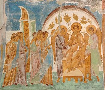 Притча о десяти девах. Фреска Дионисия
