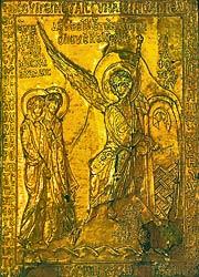 Мироносицы у Гроба Господня. Оклад. Византия, XII в. Лувр, Париж.