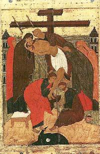 Снятие с креста. Конец XV в.