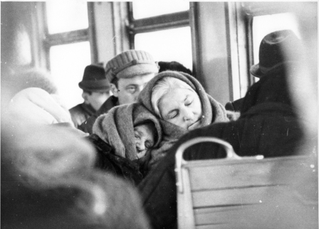 Dreaming on a suburban train, in the 1970s.