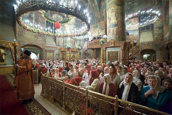 Пасхальная служба в Сретенском монастыре. Фото: М.Родионов / Православие.Ru