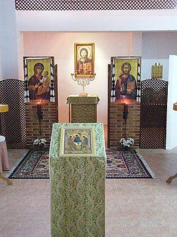 Загрузить увеличенное изображение. 500 x 667 px. Размер файла 107186 b.  Интерьер церкви святого Георгия в Сарагосе