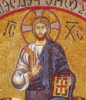 Господь Вседержитель. Мозаика в Марторане