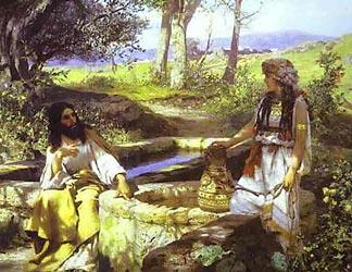 Христос и самарянка. 1890 г. Г.Семирадский.