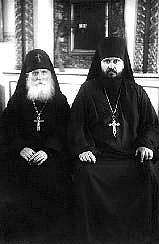 Наместник Архимандрит Пимен и старец иеросхимонах Симеон (Желнин)