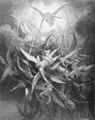 Гюстав Доре. Падение восставших ангелов. 1868