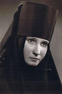 Загрузить увеличенное изображение. 300 x 453 px. Размер файла 33409 b.  Монахиня Георгия. 1960 г.