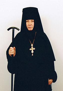 Матушка Георгия с игуменским посохом
