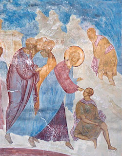 Исцеление слепорожденного. Фреска Дионисия