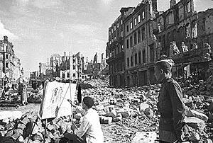 Художник, Германия, 1945 г.