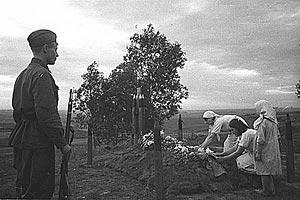 Могила артиллериста, село Денисовка, Курская дуга, 1943 г.