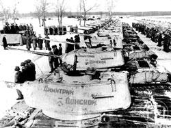 Танковая колонна имени Димитрия Донского, созданная на пожертвования верующих