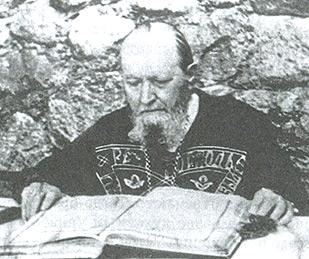 Схиигумен Савва за чтением неусыпаемой Псалтири
