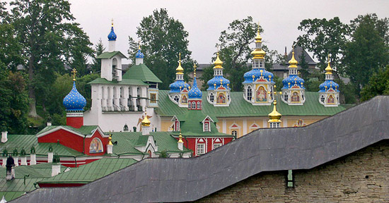 The Holy Dormition-Pskov Caves Monastery. Photograph from temples.ru.