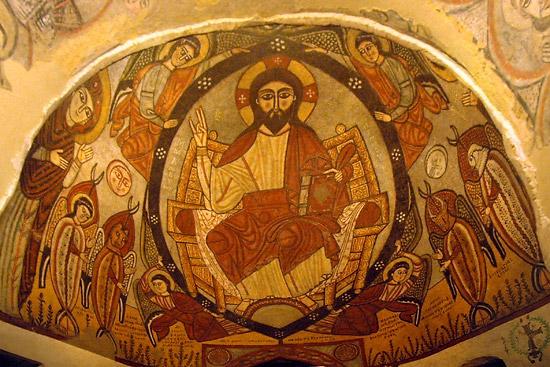 Фреска в алтаре коптского храма