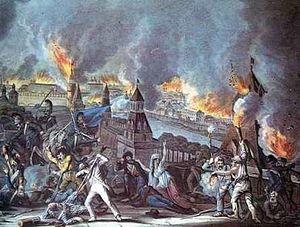 2 (15) сентября 1812 года. Вступление Наполеона в Москву. Пожар Москвы