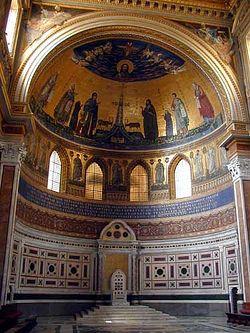 Загрузить увеличенное изображение. 375 x 500 px. Размер файла 36623 b.  Древнейшие фрески в передней части Латеранского собора