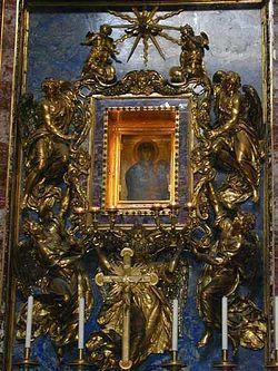 Загрузить увеличенное изображение. 375 x 500 px. Размер файла 39960 b.  Чудотворная икона Божией Матери, которая по преданию была написана св. ап. Лукой