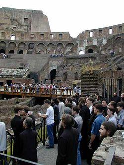 Загрузить увеличенное изображение. 375 x 500 px. Размер файла 29546 b.  Братия поет величание всем мученикам пострадавшим в Колизее