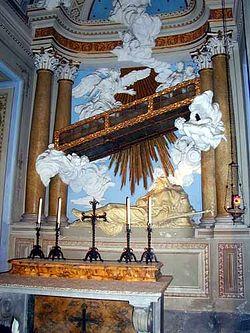 Загрузить увеличенное изображение. 375 x 500 px. Размер файла 36909 b.  Лестница, под которой жил св. Алексий человек Божий