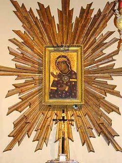 Загрузить увеличенное изображение. 375 x 500 px. Размер файла 26812 b.  Едесская иконы Божией Матери, которая по преданию была написана св. ап. ЛукойЕдесская иконы Божией Матери, которая по преданию была написана св. ап. Лукой
