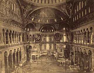 Загрузить увеличенное изображение. 100 x 100 px. Размер файла 0 b.  Храм св. Софии в Константинополе, обращенный в мечеть