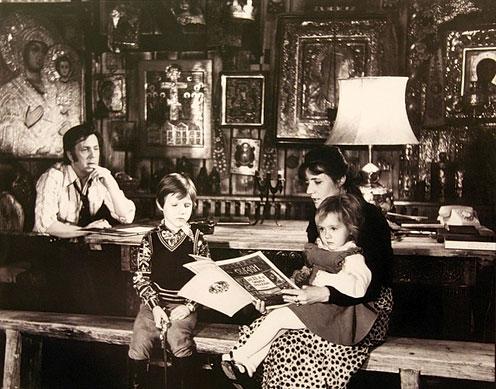 Илья Глазунов с семьей